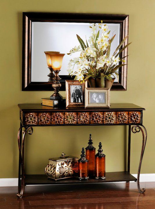 Foyer Console Table Decor : Best images about tuscan console decor on pinterest