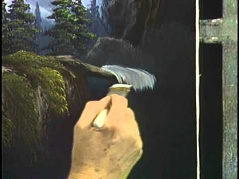 Bob Ross and The Joy of Painting: A dramatic mountain waterfall (from DVD #D2114D)