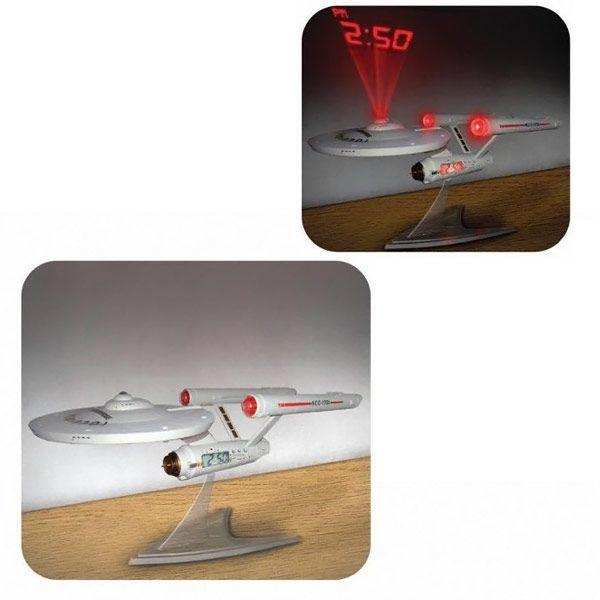 Star Trek Enterprise NCC-1701 Ship Projection Alarm Clock