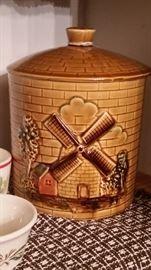 Antique cookie jar Windmill