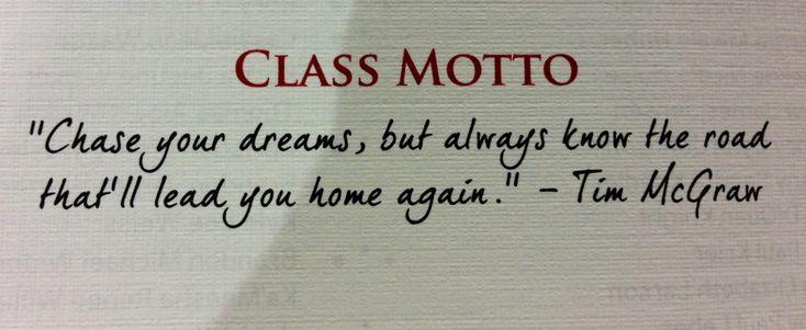 Class motto                                                                                                                                                                                 More