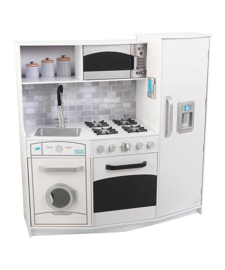 Another great find on #zulily! KidKraft Large White Lights & Sounds Play Kitchen by KidKraft #zulilyfinds
