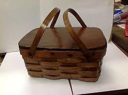 vintage lunch picnic basket for sale - Google Search