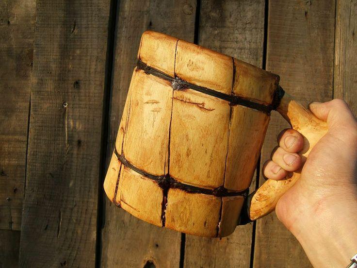 viking-beer-mug-1 made with just a knife and ax