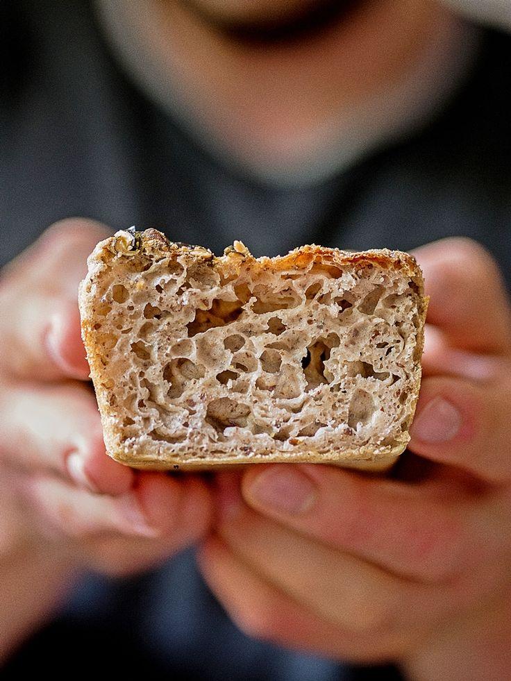 Chleb z mąki gryczanej - najlepszy chleb gryczany bezglutenowy   Przepis