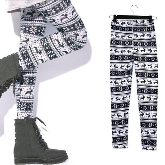 Brand new winter snowflakes leggings tights pants Material:Imitation cashmere Pants Leggings