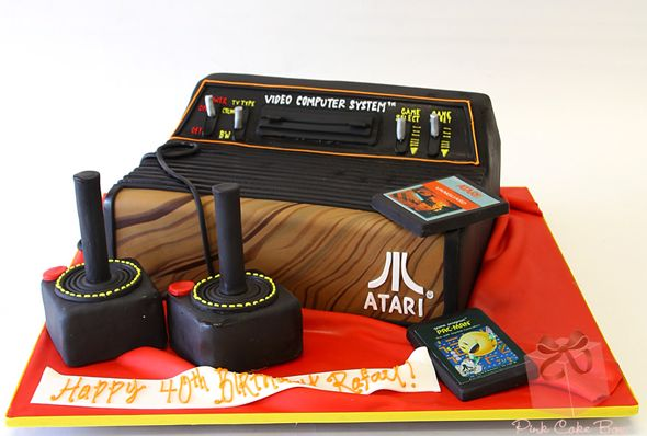 Having an 80's theme party? What about this Atari cake complete with joysticks and games?!? Totally rad dude!!!!