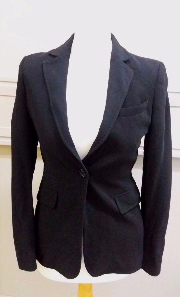 Jigsaw Ladies Black Blazer Jacket Size 8