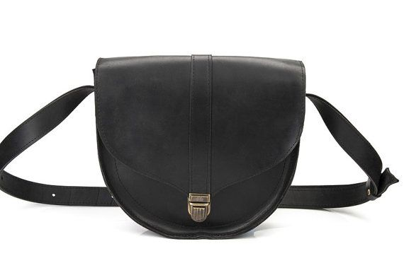 Leather crossbody bag women leather bag small by MoonshineLeather