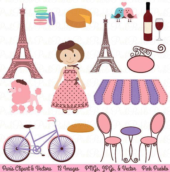 Paris Clip Art Clipart French Clipart Clip Art with by PinkPueblo