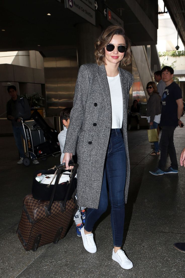 Miranda Kerr Seriously Has the Best Airport Outfit Formula via @WhoWhatWear