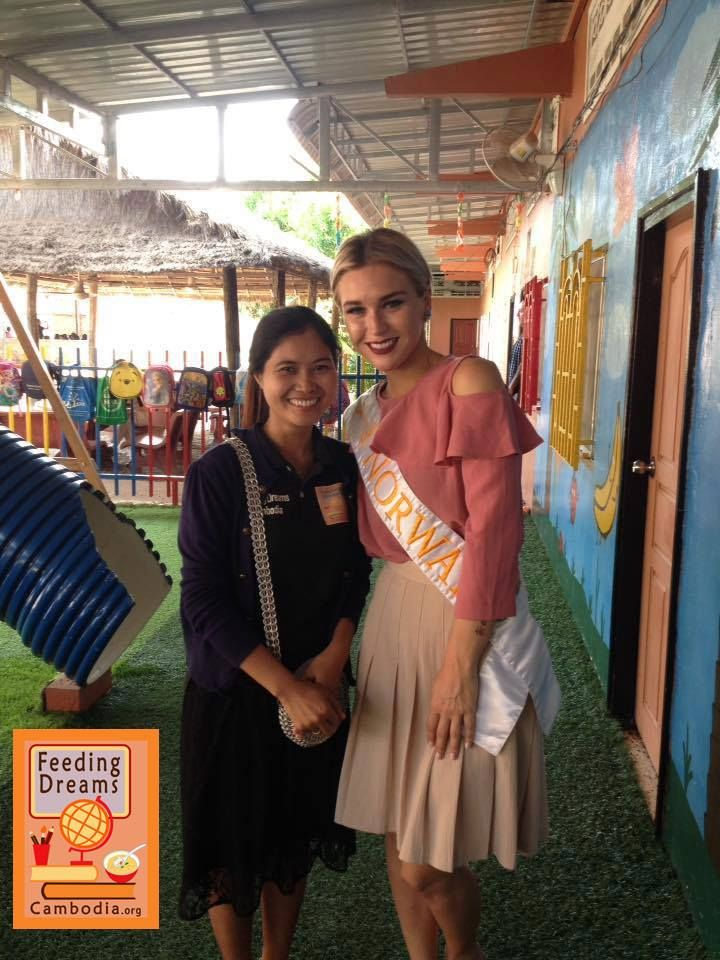 Feeding Dreams Cambodia warmly welcomed Miss Norway ! Thanks for coming to visit us and the kids and FDC staff  <3