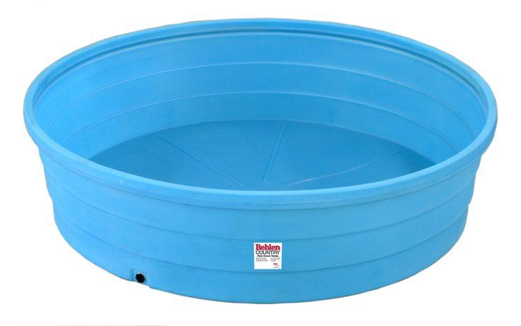 Kiddie pool 9 39 diameter round poly stock tank 1000 gal for Plastik pool rund
