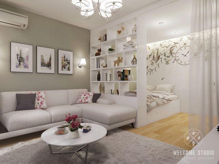 Дизайн: Welcome Studio (Нижний Новгород) Хозяева приобрели однокомнатную…