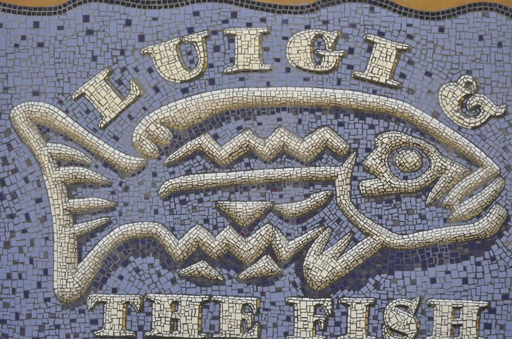 Our restaurant 'Luigi & The Fish'… mosaic by Luigi