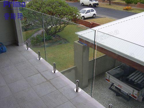 frameless glass railing deck - Google Search