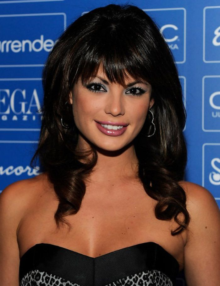 Black Hairstyles With Bangs And Curls ~ http://wowhairstyle.com/black-hairstyles-with-bangs/