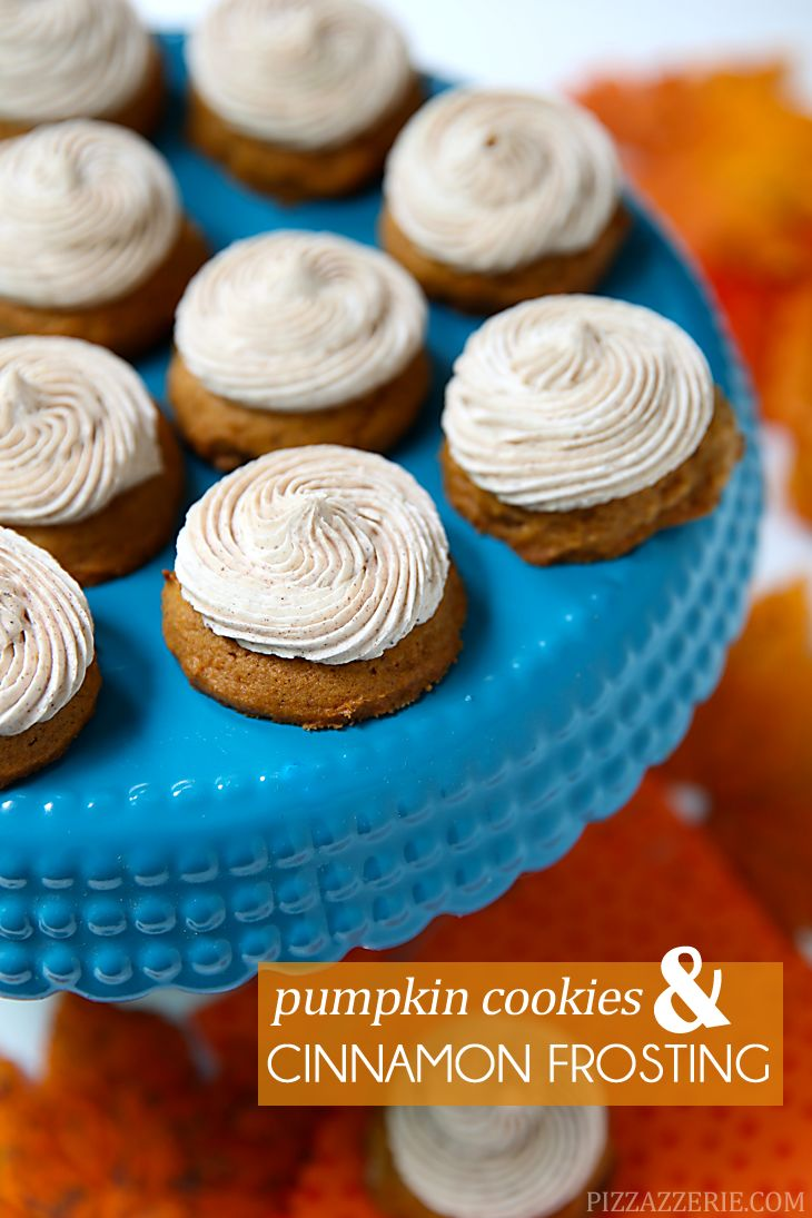 These delicious mini pumpkin cookies with cinnamon buttercream frosting are so delicious and the perfect treat for fall!