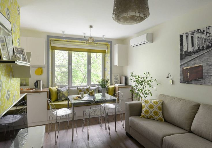 Positive atmosphere, spring colors in a nicely decorated small apartment – 23 square meters