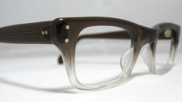 Glasses Frame Fading : Vintage EyeGlasses Frames Mens Brown Smoke Fade. Horn Rim ...