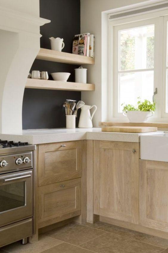 pale rustic wood kitchen