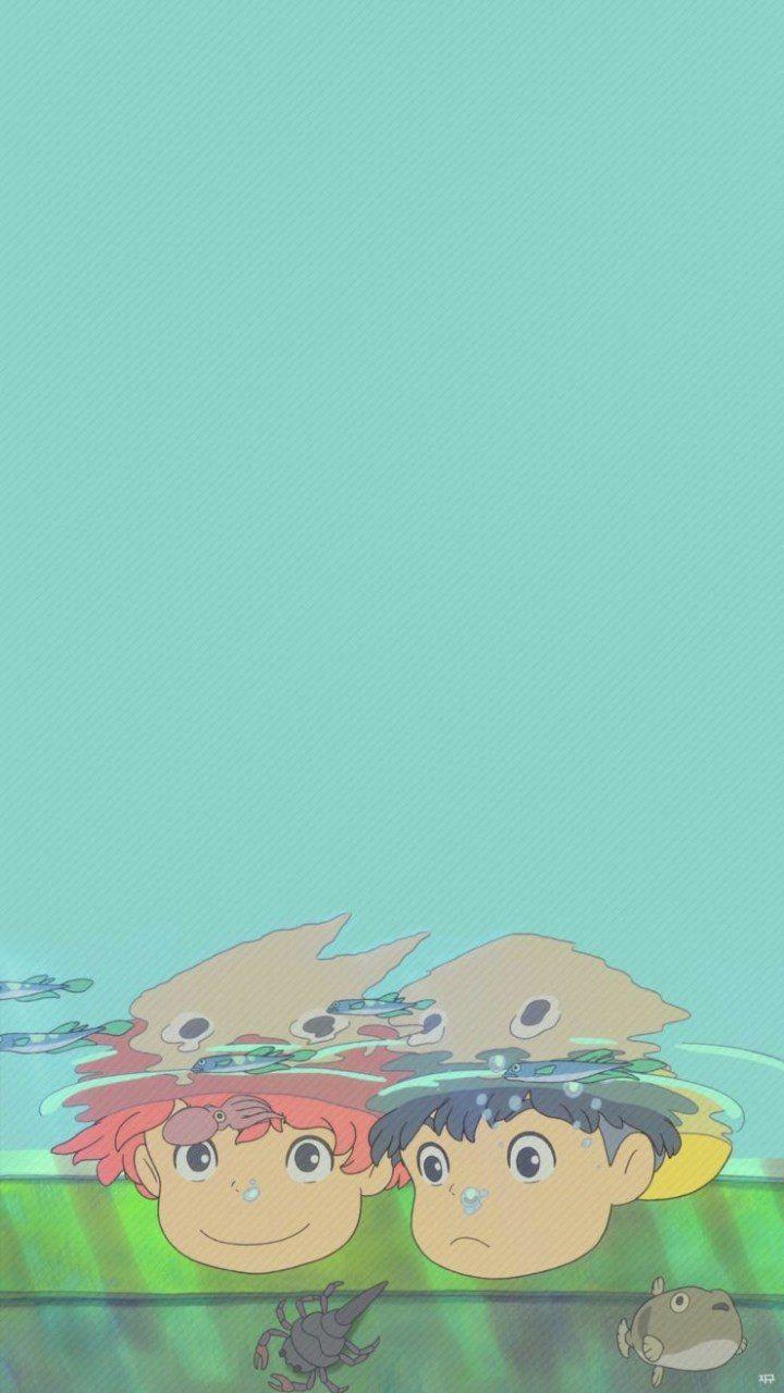 Sasuke And Ponyo In 2020 Studio Ghibli Background Ghibli Artwork Ghibli Movies
