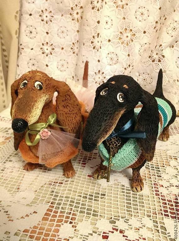 Купить Такса Выбражулька) - коричневый, рыжий, такса, игрушка ручной работы, интерьерная игрушка
