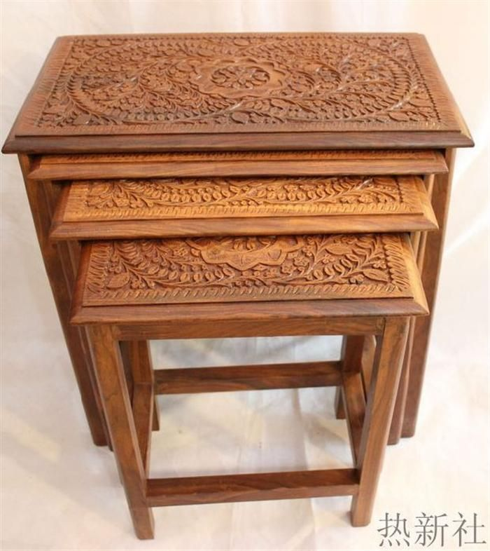 Pakistan Imported Wood Carving Table Antique Wood Pure Handmade Coffee Table Coffee Table Stool How To Antique Wood Antique Coffee Tables Handmade Coffee Table