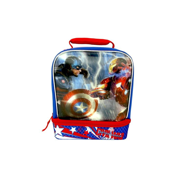 Marvel Captain American Lunch Bag, Blue