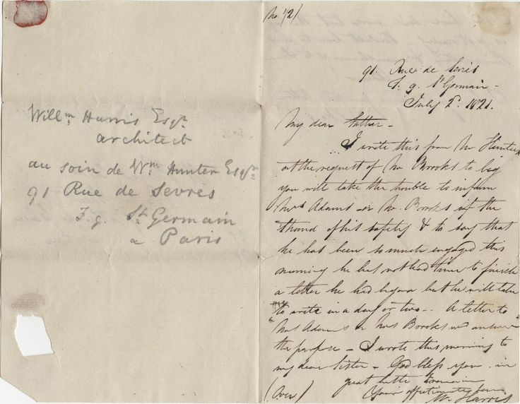 Examples Of 1820s Letter England Google Search 1800s