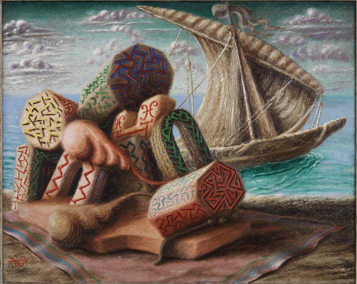 """Alberto Savinio - Ulysse et Polypheme, 1929 - Mart,  Collezione VAF-Stiftung - """"La Magnifica Ossessione"""" www.mart.tn.it/magnificaossessione"""