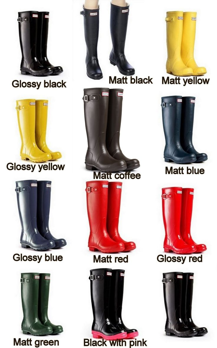 FREE SHIPPING HUNTER Women Wellies Rain Water Boots 17 Colors Sizes 5-10 US  Priced at $89.99