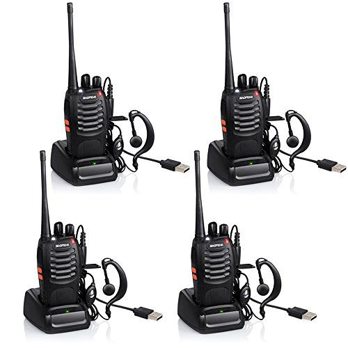 Ammiy baofeng Walkie Talkie Radio Ammiy BF-888S Portable Ham Two Way Radio Handheld UHF 400-470MHz Transceiver Interphone With Rechargeable Li-ion Battery Headphones Charge Via USB (Pack of 4). For product & price info go to:  https://all4hiking.com/products/ammiy-baofeng-walkie-talkie-radio-ammiy-bf-888s-portable-ham-two-way-radio-handheld-uhf-400-470mhz-transceiver-interphone-with-rechargeable-li-ion-battery-headphones-charge-via-usb-pack-of-4/