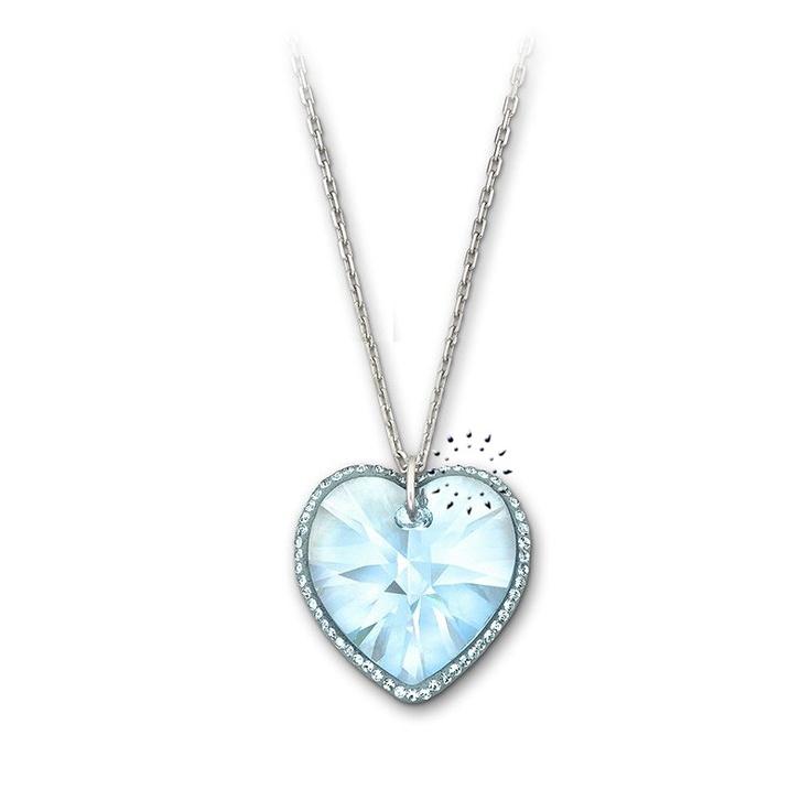 Κολιέ Reverie Aquamarine Heart Swarovski KOSMIMA.gr