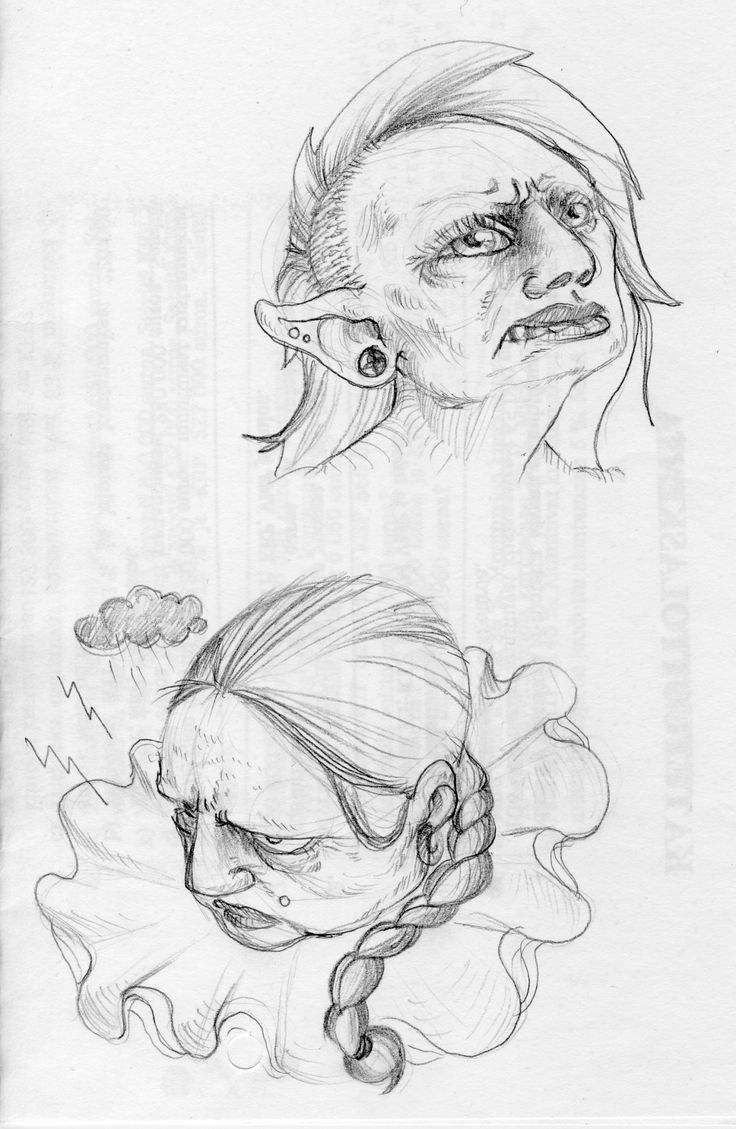 Sketchy heads.
