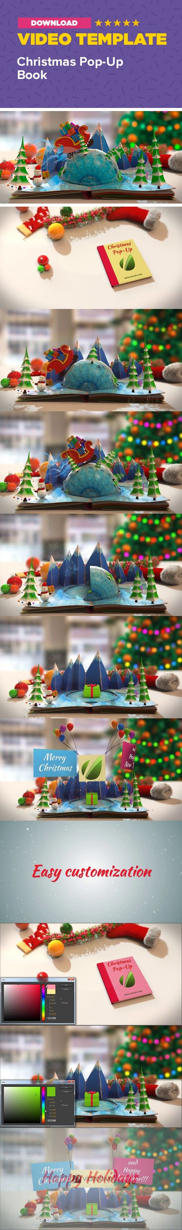 3d, animation, book, card, christmas, greetings, happy new year, holiday, logo, magical, merry christmas, pop up, present, snow, xmas Hi guys! Finally I've finished my new Christmas project. It's great for holiday greetings Very easy to customise, just drop your logo, type text and change colors with Color Control. Merry Christmas!  Please check my new Christmas Pop-Up Book 2  Check my other Christmas projects:                                              Information:      Easy to…