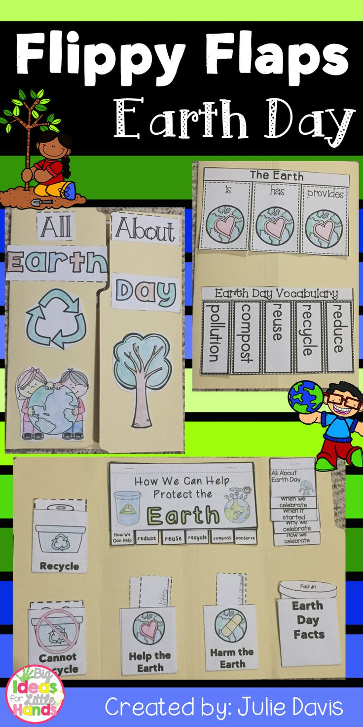 Earth Day Flippy Flaps!  This is a great way to get your students learning about Earth Day and Recycling in a fun hands-on interactive way! Your students will be engaged and learn about Earth Day in many different ways!  Activities included:  - What Can You Recycle, Reuse, Reduce - Earth Day KWL - The Earth is/has/provides - Earth Day Facts - All About Earth Day - Recycle/Cannot Recycle Sort - Earth Day Word Sort - Help/Harm the Earth Sort - Earth Day Vocabulary - How We Can Help Protect