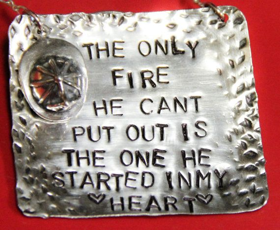 I Heart My Firefighter Necklace
