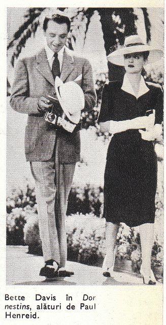 """Bette Davis Paul Henreid in """"NOW, VOYAGER"""" (1942)"""
