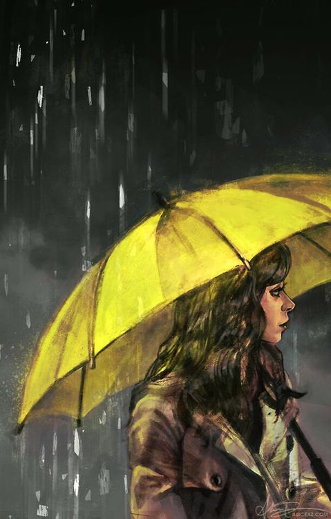 Girl with the yellow umbrella (himym)