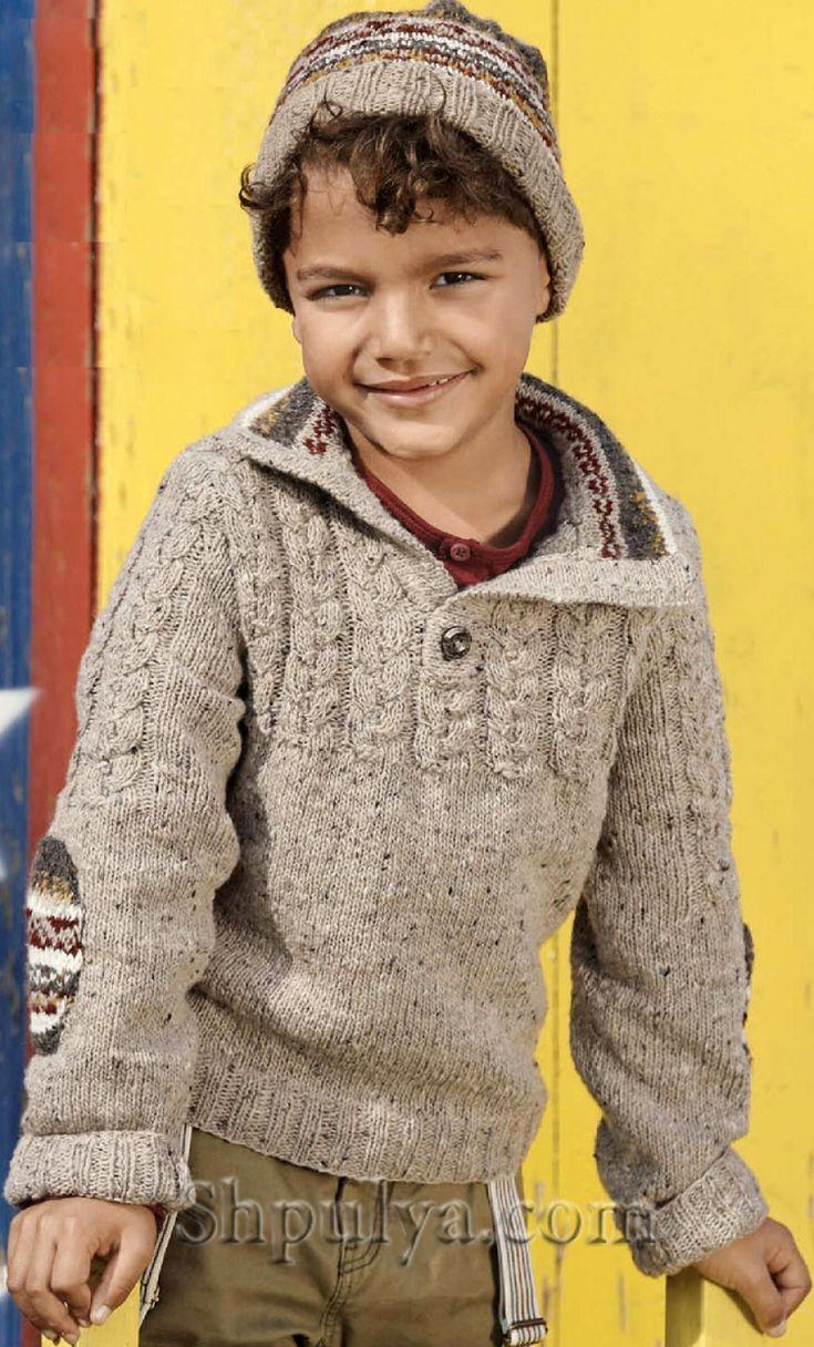Шапка и пуловер поло для мальчика