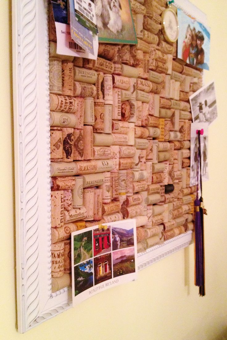 Wine cork board in cool picture frame