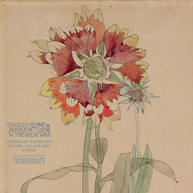 "Detail: ""Gilardia"". Charles Rennie Mackintosh. 1914."