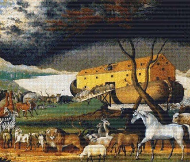 Noah's Ark Cross Stitch Pattern