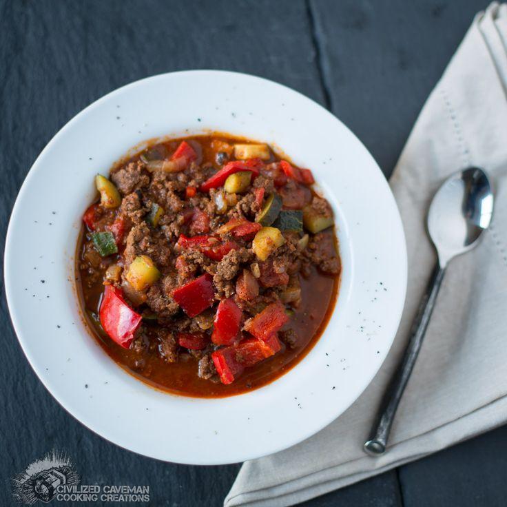 Crockpot Spicy Elk Chili.  #grainfree #glutenfree