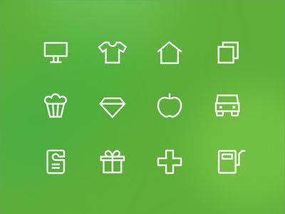 Online Navigation Icons for Loyalty Program