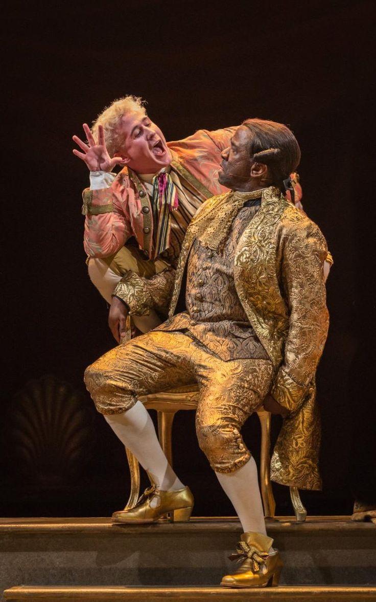 Adam Gillen and  Lucian Msamati as Mozart and Salieri