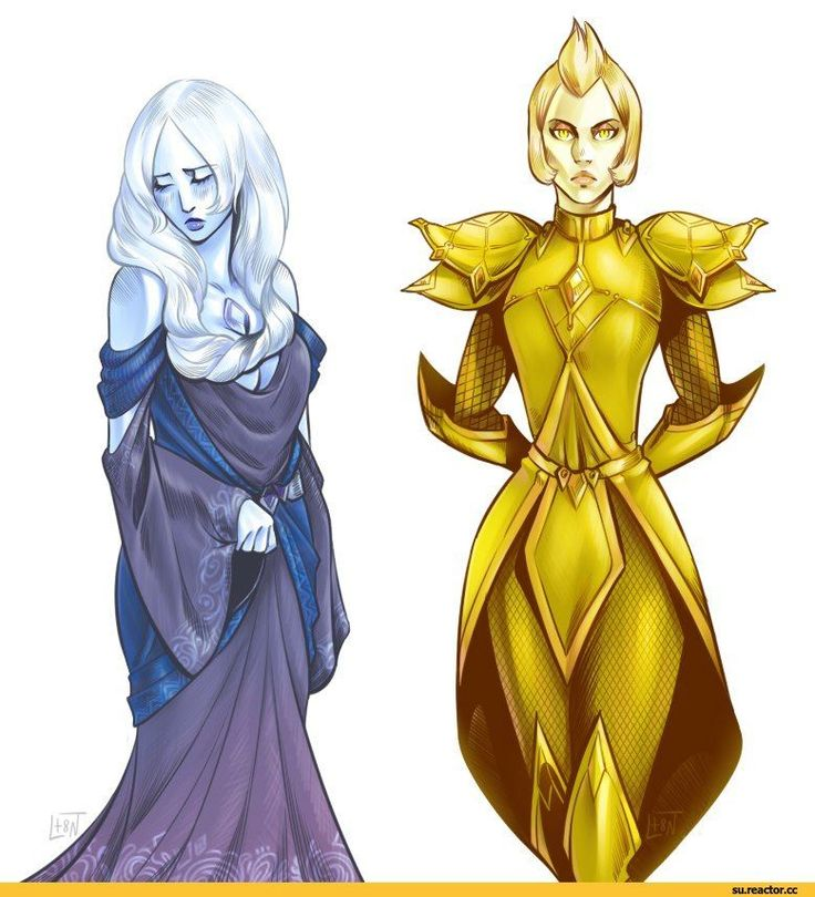 Steven universe,фэндомы,Blue Diamond,SU Персонажи,Yellow Diamond,lessanamidairo,SU art