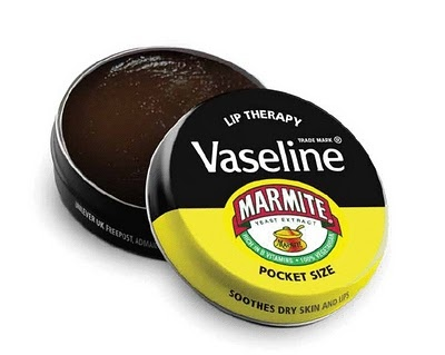 Marmite Vaseline Limited Edition Product... seriously... gross. My mum loves this stuff.