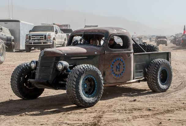 """Trophy Rat"": LS6 powered 1937 International Rat Rod race truck"